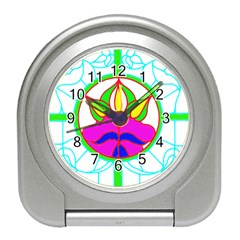 Pattern Template Stained Glass Travel Alarm Clocks