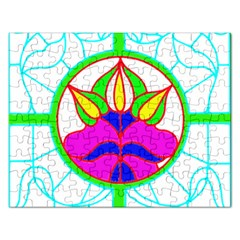 Pattern Template Stained Glass Rectangular Jigsaw Puzzl