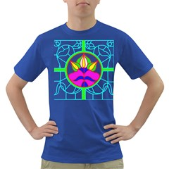 Pattern Template Stained Glass Dark T-Shirt