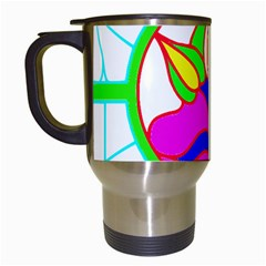 Pattern Template Stained Glass Travel Mugs (White)