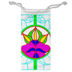 Pattern Template Stained Glass Jewelry Bag