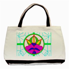 Pattern Template Stained Glass Basic Tote Bag