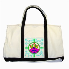 Pattern Template Stained Glass Two Tone Tote Bag