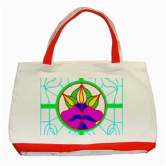Pattern Template Stained Glass Classic Tote Bag (Red)
