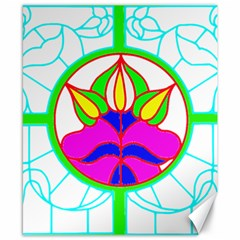 Pattern Template Stained Glass Canvas 8  x 10