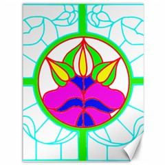 Pattern Template Stained Glass Canvas 36  x 48