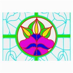 Pattern Template Stained Glass Large Glasses Cloth (2-Side)