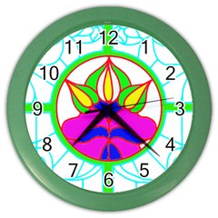 Pattern Template Stained Glass Color Wall Clocks