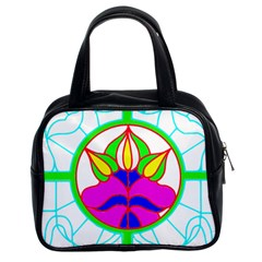 Pattern Template Stained Glass Classic Handbags (2 Sides)