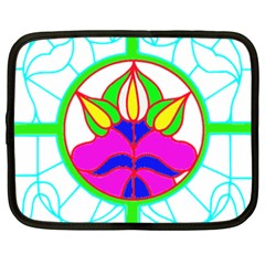 Pattern Template Stained Glass Netbook Case (XXL)