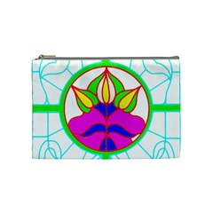 Pattern Template Stained Glass Cosmetic Bag (Medium)