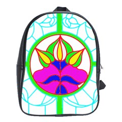 Pattern Template Stained Glass School Bags(Large)