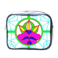 Pattern Template Stained Glass Mini Toiletries Bags