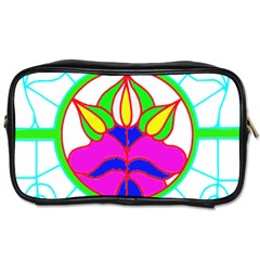 Pattern Template Stained Glass Toiletries Bags 2-Side