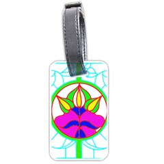 Pattern Template Stained Glass Luggage Tags (Two Sides)