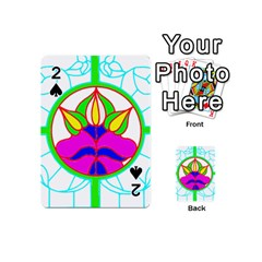 Pattern Template Stained Glass Playing Cards 54 (Mini)