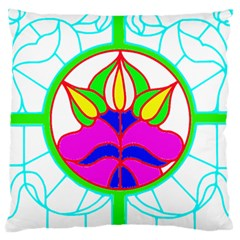 Pattern Template Stained Glass Large Cushion Case (Two Sides)