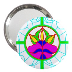 Pattern Template Stained Glass 3  Handbag Mirrors