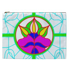 Pattern Template Stained Glass Cosmetic Bag (XXL)