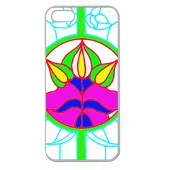 Pattern Template Stained Glass Apple Seamless iPhone 5 Case (Clear)