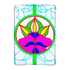 Pattern Template Stained Glass Apple iPad Mini Hardshell Case (Compatible with Smart Cover)