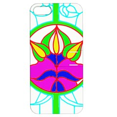 Pattern Template Stained Glass Apple iPhone 5 Hardshell Case with Stand