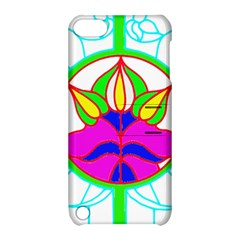 Pattern Template Stained Glass Apple iPod Touch 5 Hardshell Case with Stand