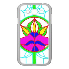 Pattern Template Stained Glass Samsung Galaxy Grand DUOS I9082 Case (White)