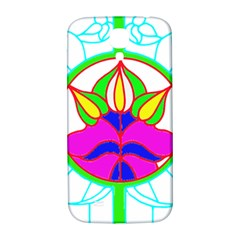 Pattern Template Stained Glass Samsung Galaxy S4 I9500/I9505  Hardshell Back Case