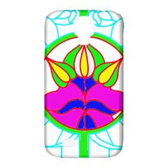 Pattern Template Stained Glass Samsung Galaxy S4 Classic Hardshell Case (PC+Silicone)