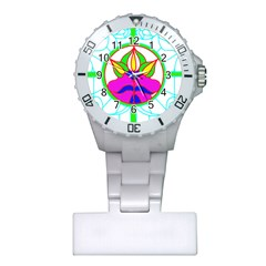 Pattern Template Stained Glass Plastic Nurses Watch