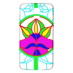 Pattern Template Stained Glass Samsung Galaxy S5 Back Case (White)