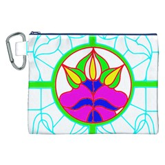 Pattern Template Stained Glass Canvas Cosmetic Bag (XXL)