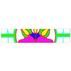 Pattern Template Stained Glass Flano Scarf (Small)