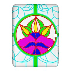 Pattern Template Stained Glass Samsung Galaxy Tab 4 (10.1 ) Hardshell Case