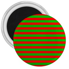 Pattern Lines Red Green 3  Magnets