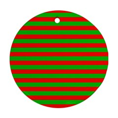 Pattern Lines Red Green Ornament (Round)