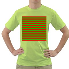 Pattern Lines Red Green Green T-Shirt