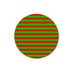 Pattern Lines Red Green Magnet 3  (Round)