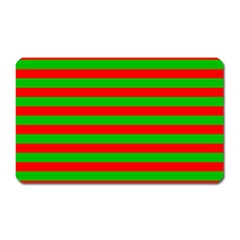 Pattern Lines Red Green Magnet (Rectangular)