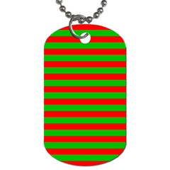 Pattern Lines Red Green Dog Tag (One Side)
