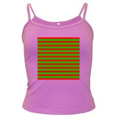 Pattern Lines Red Green Dark Spaghetti Tank