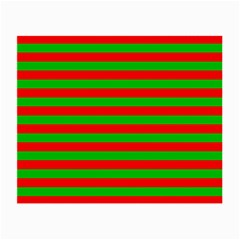 Pattern Lines Red Green Small Glasses Cloth