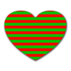 Pattern Lines Red Green Heart Mousepads