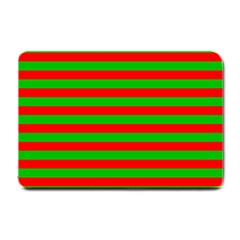Pattern Lines Red Green Small Doormat