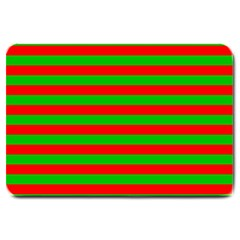 Pattern Lines Red Green Large Doormat
