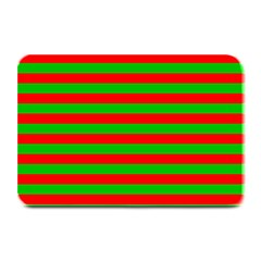 Pattern Lines Red Green Plate Mats