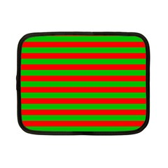Pattern Lines Red Green Netbook Case (Small)