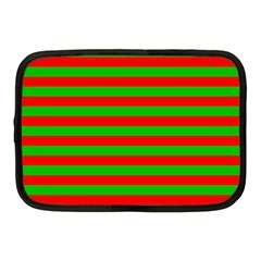 Pattern Lines Red Green Netbook Case (Medium)