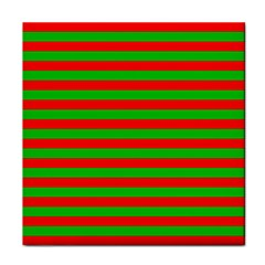 Pattern Lines Red Green Face Towel